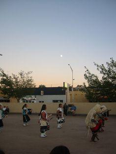 Zuni Buffalo Dance at Dusk. Gallup, New Mexico