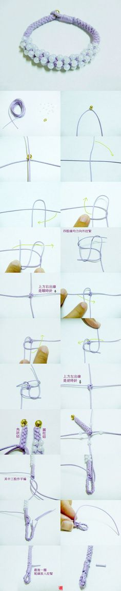 Looks like kumihimo but it's not. Chinese knots. I'll have to try this one!