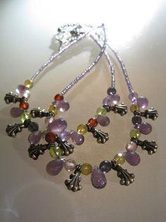 De jolies améthystes briolettes et quartz facettés multicolors composent ce collier d'inspiration indienne ANEHO Création  a-neho.com Creations, Charmed, Bracelets, Earrings, Inspiration, Jewelry, Fashion, Veneers Teeth, Beads