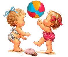 Samen Ballen op het Strand