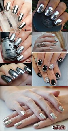 10+ Best Stylish Silver Nail Polish Designs for This Week 2016 |