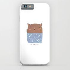 #cat #cute #pajamas #illustration #simple #minimal #tumblr #kawaii #sleepy #art #drawing #digital #iphone #iphone6 #cats #case #skin #pillow #totebag #bag #decoration