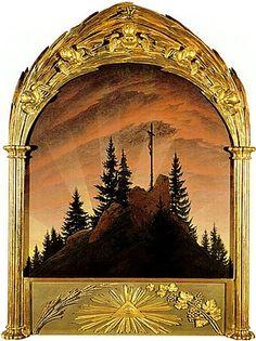 Caspar David Friedrich: Tetschen Altar or Cross in the Mountains