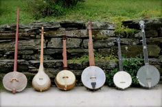 Via Carolina Chocolate Drops Facebook page: Rhiannon's photo of a portion of her banjo collection