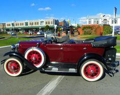 Cool old car. Feilding, New Zealand
