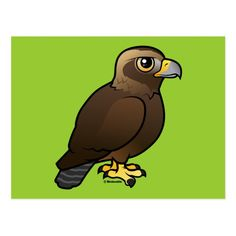 Shop Golden Eagle Postcard created by birdorable. Eagle Bird, Simple Cartoon, Golden Eagle, Cute Birds, Postcard Size, Beautiful Birds, Baby Animals, Colorful Backgrounds, Year Book