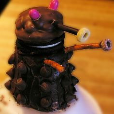 Mommy's mini CHOCOLATE DALEKS! Except I would use edible ball bearings instead of chocolate chips. Nobody else in the entire galaxy has ever even bothered to make edible ball bearings!