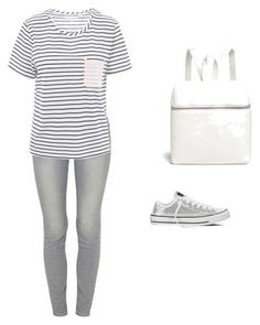 """Weekend Outfit #5"" by meggieggie ❤ liked on Polyvore featuring Converse, Paige Denim, Chinti and Parker and Kara"