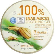 3W Clinic - 100% Schneckenschleim Gel Snail Soothing - Feuchtigkeitsgel - Die ausgezeichnete Gel-Textur von 3W Clinic dringt tief in die Hautschichten ein und füllt die Reservoirs mit Feuchtigkeit. Das Gel enthält eine ganz besondere Zusammensetzung aus Schneckenschleim und Aloe Vera. Das Schneckenschleimgel ist besonders leicht aufzutragen und zieht in Sekundenschnelle in Ihre Gesichtshaut ein. Das Gel sorgt für ein überraschend elastisches und straffes Hautbild. Es wirkt beruhigend.