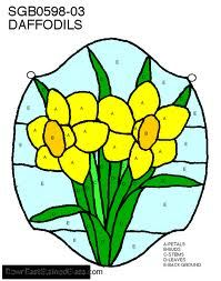 Image result for stained glass welsh daffodil