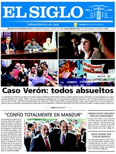 Diario El Siglo - Miércoles 12 de Diciembre de 20 12