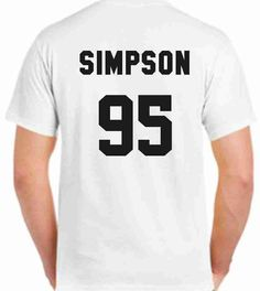 Bradley Simpson 95 The Vamps Printed Back Unisex by CrazyPrintsL, £9.99