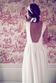 Constance Fournier – Robes de mariee – Nouvelle collection 2013 – La mariee aux pieds nus