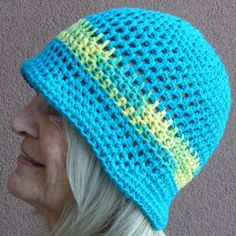 Crochet hat / cotton beanie / small brim hat / bucket hat / all cotton hat Cotton Crochet, Crochet Hats, Cotton Beanie, Unique Crochet, Outdoor Wear, Summer Hats, Loom Knitting, Crochet Projects, Free Pattern