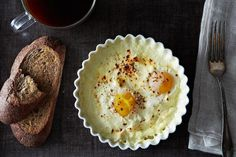 Baked Eggs recipe: Perfect for the weekend. #food52