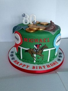 Horse Racing Cake Cackes Pinterest Racing cake Horse and Cake