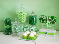 Cute St. Patricks Day theme dessert buffet