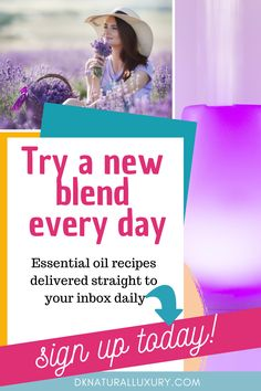 Love lavender? Rosemary? Lemon?  Not sure what else makes a great blend?  Join our Blend of the Day Program and get a new essential oil blend recipe delivered to your inbox daily.  Includes exact recipe, how to use it and the benefits of using it!  Sign up today by clicking on the image so you don't miss a single recipe! #essentialoils  #naturalliving Essential Oil Blends, Essential Oils, Natural Living, Essentials, Day, Recipes, Natural Life, Food Recipes, Rezepte