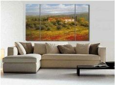 Italian Landscape Painting Decoration Unstretch