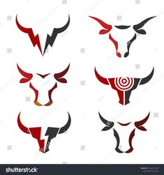 buffalo head logo, abstract bull head logo vector