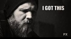 Opie was down with SOA til the end. sons of anarchy