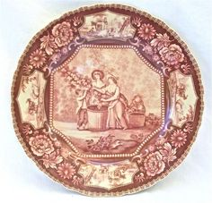 Antique Red French Toile Lady Plate Dinner Plate by ChinaFind. $21.00. Features Vintage Victorian Lady Scenes. Dishwasher and Microwave Safe. Gift Wrapping Available at Checkout. Red Antique French Toile Design. Fine Porcelain China. This lovely plate just feels right in your hand, the quality can be felt just as easily as it can be seen. It features a vintage French Toile design, ladies harvesting flowers are depicted in the center and bucolic farm scenes are shown in the cam...