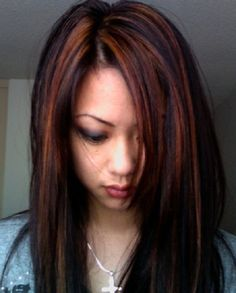 highlights for dark hair | ... Highlights: What is the Difference? Partial Highlight For Dark Hair