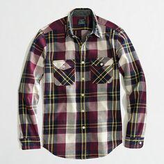 J.Crew Factory - Factory winterweight flannel workshirt