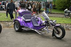 Purple trike. Motorcycle. Now it just needs a stuffed unicorn on it!
