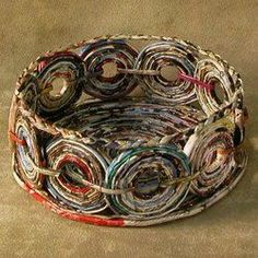 Other types of paper art: Thankful Friend Recycled Paper Basket: