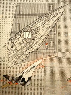 Models and drafting by Lebbeus Woods, on display at the Drawing Center on Wooster Street in Manhattan. I had seen them before when they were on display at the Broad Museum in Lansing, Michigan, where I grew up and coincidentally were Woods was born. Wood Architecture, Architecture Drawings, Architecture Details, Architecture Collage, Classical Architecture, Ancient Architecture, Sustainable Architecture, Wood Tattoo, The Broad Museum