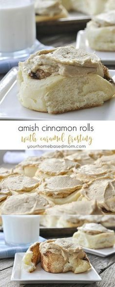Cinnamon Rolls with Caramel Frosting Recipe - you will love the surprising addition of mashed potatoes in these!Amish Cinnamon Rolls with Caramel Frosting Recipe - you will love the surprising addition of mashed potatoes in these! Just Desserts, Delicious Desserts, Dessert Recipes, Yummy Food, Amish Food Recipes, Baking Recipes, Pudding Recipes, Casserole Recipes, Bread Recipes