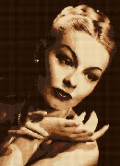 Cross stitch chart Lili St. Cyr Burlesque Art Deco Portrait 4 PDF- EASY chart with one color per sheet And regular chart! Two charts in one! by HeritageCharts on Etsy