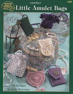 Amulet Bags Crochet Patterns - 12 Designs - Change Purses
