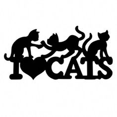 I Love Cats Car Decal – I Love Cat Socks #catsandkittens Crazy Cat Lady, Crazy Cats, Cat Whisperer, F2 Savannah Cat, Car Illustration, Cat Silhouette, Warrior Cats, Art Mural, Car Decals