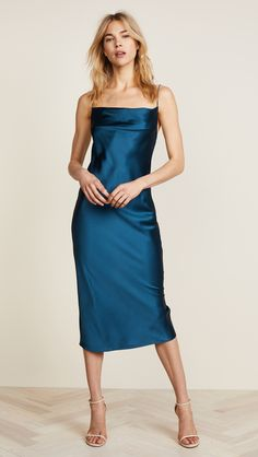 Fleur du Mal Cowl Neck Slip Dress | SHOPBOP