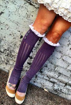 Lace Trim Boot Socks Leg warmers