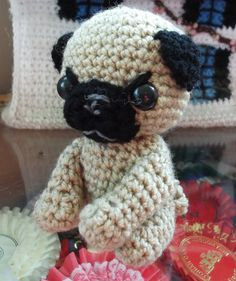 pug amigurumi little toy dog by yasasii123 on Etsy, $21.00