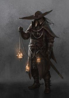 fantasy character with lamp Fantasy Kunst, Dark Fantasy Art, Dark Art, Fantasy Armor, Medieval Fantasy, Dnd Characters, Fantasy Characters, Fantasy Character Design, Character Art