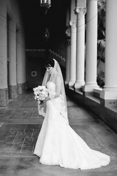 lace gown + veil | Elaine Palladino #wedding