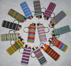 Image detail for -Lighter Removable Cover Case Keychain Key Chain Glass Seed Beads ...