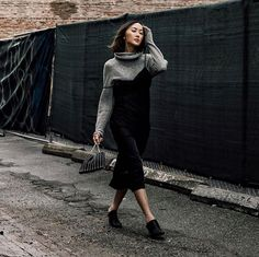 """3,614 Likes, 44 Comments - Chriselle Lim  임소정 (@chrisellelim) on Instagram: """"How to wear a slip dress in the winter. This look on #thechrisellector today. Link in bio"""""""