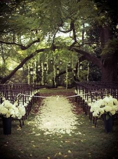 Setting The Scene. Gorgeous Idea for Your Outdoor Vow Renewal Ceremony.
