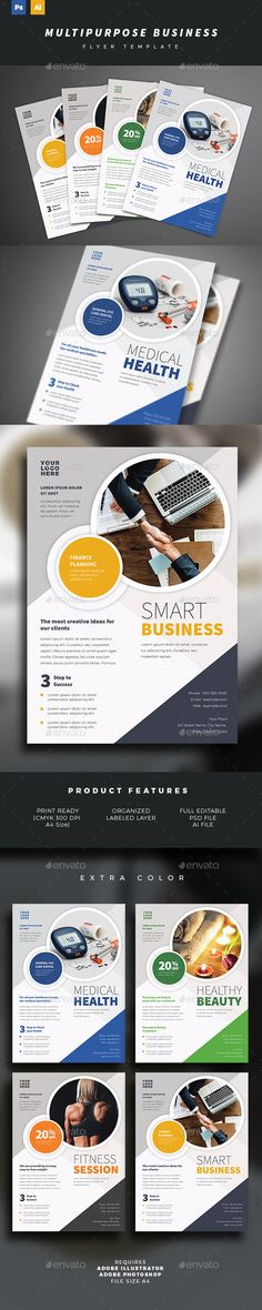 #Multipurpose Business Flyer #Template - #Corporate Flyers