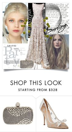 """party life"" by annna-98 ❤ liked on Polyvore featuring Naeem Khan, Alexander McQueen, Kate Spade and Crate and Barrel"
