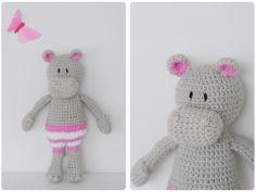Amigurumi Hippo - Free Crochet Pattern / Gratis mönster på virkad flodhäst