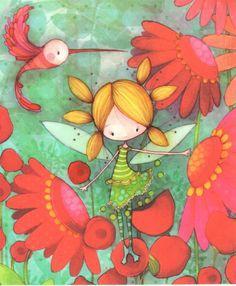 Aquarupella: Flower fairy   Aquarupella   Cardcetera