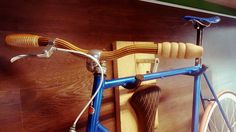 Wooden grips and handlebars ,wall mount by