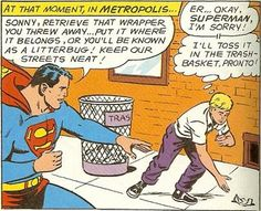 Silver Age Comic Books: Superman stops the LITTERBUG and more Super-Kink