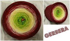 Bobbel *Gerbera* (Mix) Material: Hochbauschacryl 5 Farben: apfelgrün vanille natur weinrot marone